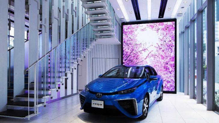 Toyota'dan Hidrojen Yakıt Hücreli Mirai için Özel Showroom
