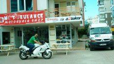 """""""Motobulance Motocycle Accessories Cafe Shop"""""""