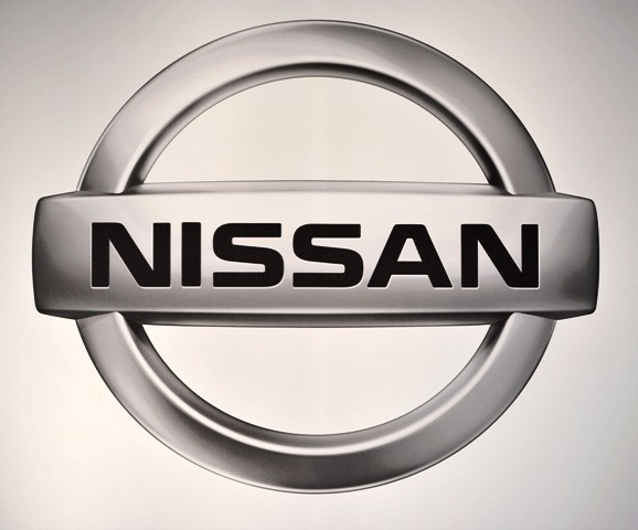 The logo for Nissan is displayed at the Chicago Auto Show at McCormick Place in Chicago on February 9, 2011.    UPI/Brian Kersey