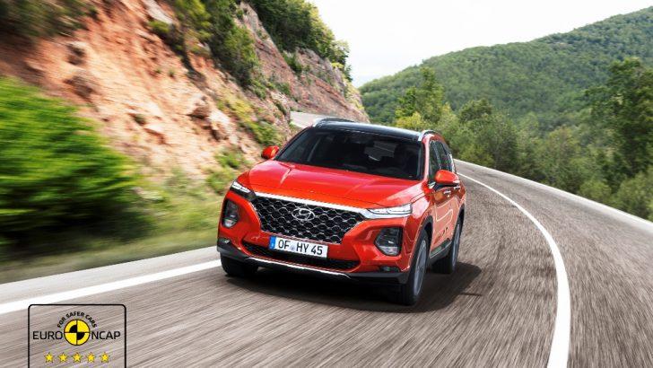 Yeni Santa Fe'ye Euro NCAP'ten 5 yıldız