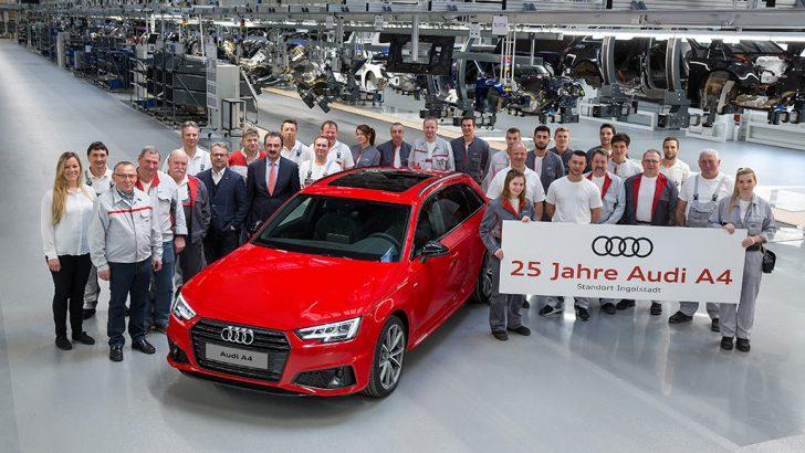 Audi'nin en çok satan modeli Audi A4  25 yaşında