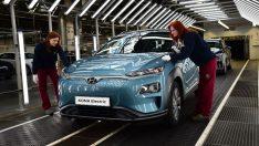 Hyundai Kona Electric Avrupa'da Üretime Başlıyor.