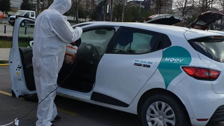 MOOV by Garenta'dan virüs ve bakterilere karşı yüksek koruma önlemi