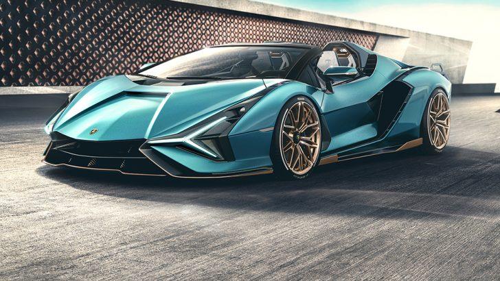 Masmavi gökyüzünün altında geleceğin teknolojisi: Lamborghini Sian Roadster