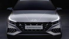 Hyundai Yeni Elantra N Line'ın çizimlerini paylaştı.