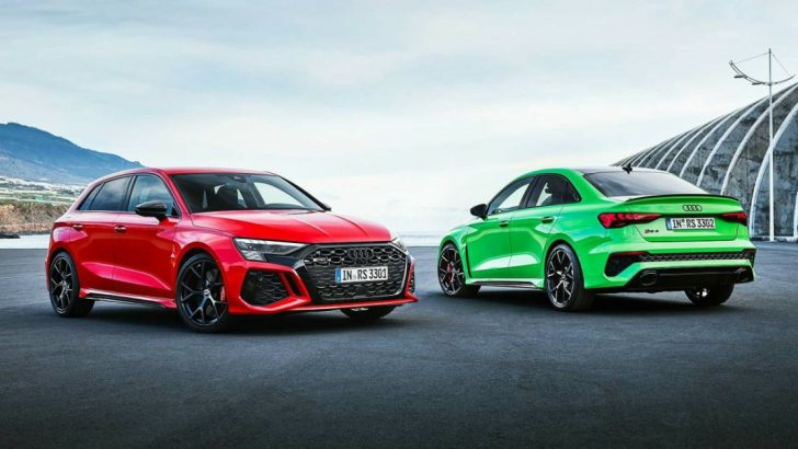 Audi RS3 Sedan ve Sportback, yenilenen yüzüyle vizyonda!